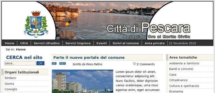 Sito del comune di Pescara